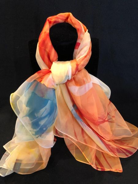 Rose/Toasted Peach/Yellow (100% Silk Feel)