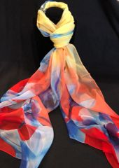 Red/Royal Blue/Yellow (100% Silk Feel)