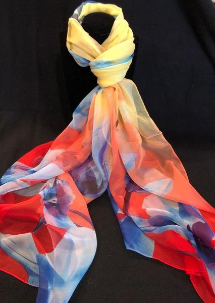 Red/Royal Blue/Yellow (100% Silk Feel)