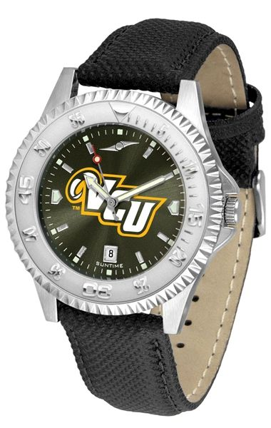 VCU Men's Leather Competitor Silver-tone AnoChrome