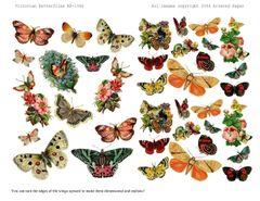 1066 Victorian Butterfly Digi Stamp