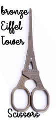Eiffel Tower Bronze French Imported Scissors