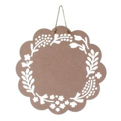 Floral wood plaque