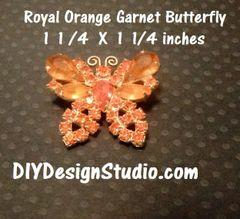 Royal Orange Butterfly Pin