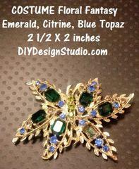 Foral Fantasy Mid Century Jewelry