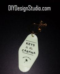 Tacky Motel Key Chains Cabana