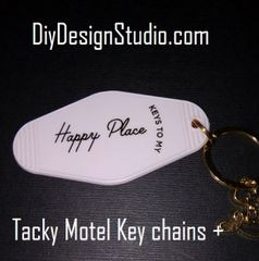 Tacky Motel Key Chains Happy