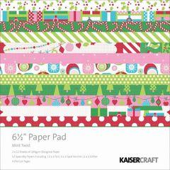 Kaisercraft Mint Twist 6 1/2 x 6 1/2 pad