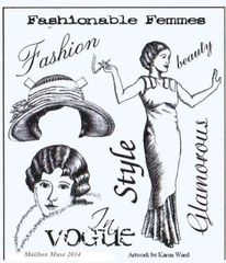 Fashion Rubber Stamp MUSE