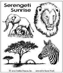 Jungle Rubber Stamps MUSE