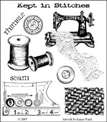 Sewing Rubber Stamp MUSE