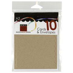 Kraft Cards + Envelopes (10)