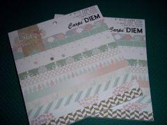 6X6 PAPER PAD CARPE DIEM
