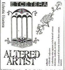 Altered Artist Stamp Plate Muse
