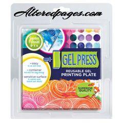 Gel Press 6x6 printing plate