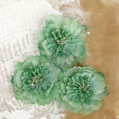 Prima Large Flowers, Teal green