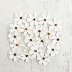 Beaded Fancie White flowers