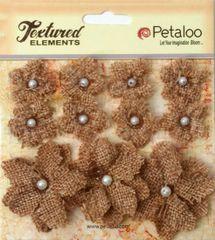 Petaloo Texture Burlap Flowers