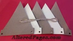 Wood and Corrugated Paper Banners