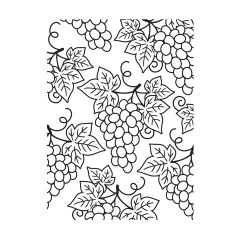 Embossing folder GRAPES