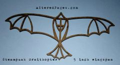 Die Cut Ornithopter Steampunk Bird