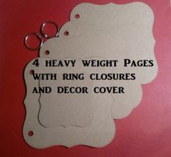 Die cut Chipboard Fancy book