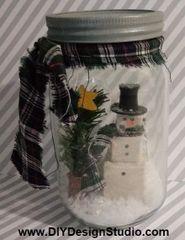 Snowman Jar Instructions