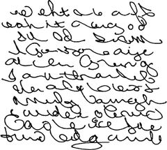 Asemic Writing rubber stamps