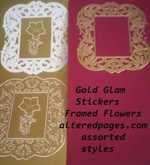 Gold Glam Sticker Sheets - Metallic