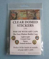 Art Cap Clear domed stickers