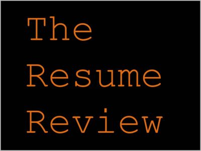 THE RESUME REVIEW