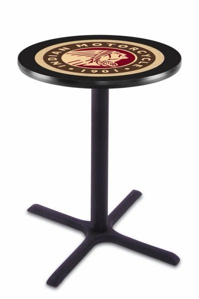 PUB TABLE INDIAN MOTORCYCLE LOGO OTHER STYLES AVAILABLE - BLACK WRINKLE - A - L211B36INDN-HD