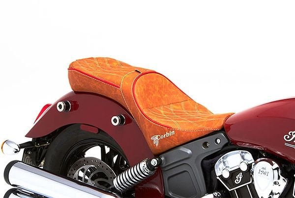 Dual Seat - CORBIN DUAL TOURING SADDLE FOR SCOUT AND SCOUT SIXTY - A - #1-SCT-DT - SPECIAL ORDER ONLY