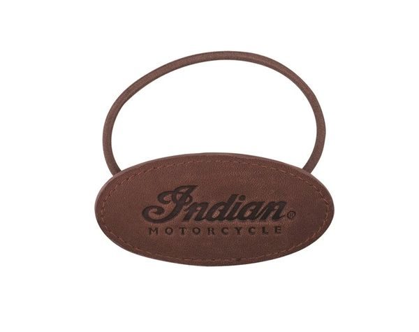 WOMENS BROWN SCRIPT LEATHER HAIR ELASTIC - IMC - 2863957