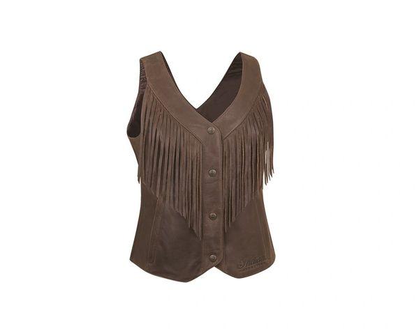 Vest - BROWN FRINGE VEST - 2866291