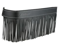 GENUINE LEATHER FLOORBOARD TRIM W/FRINGE BLACK - 2879555-01
