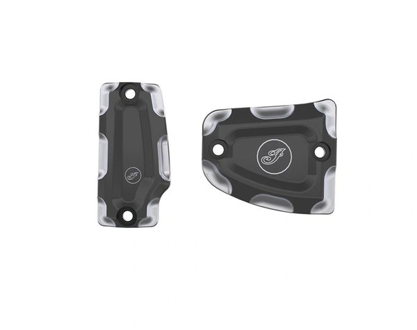 BILLET MASTER CYLINDER COVERS CONTRAST CUT - 2882008-468