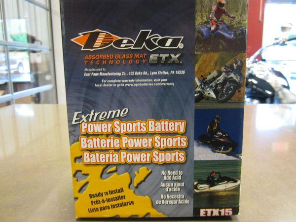 Deka Battery ETX15 - All Scouts - ETX15
