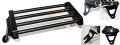 Scout Carbon Fiber Solo Rack - Black Bullet Style Brackets - CI-4011FBB