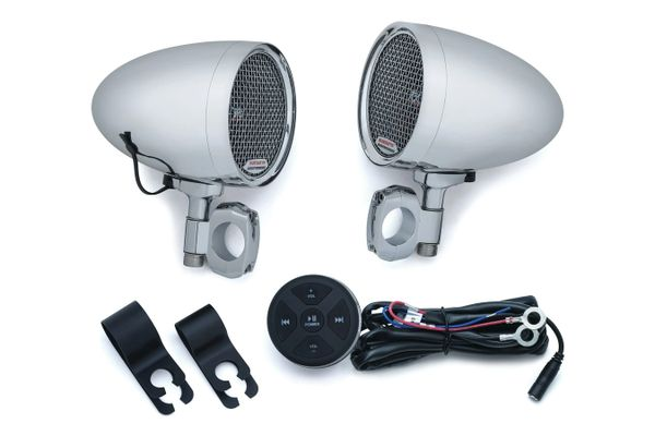 RoadThunder® Speaker Pods and Bluetooth® Audio Controller Chrome - 2712