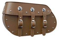 GENUINE LEATHER SADDLEBAGS TAN - 2884005-06