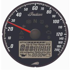BLACK DIAL FACE SPEEDOMETER - 2883444