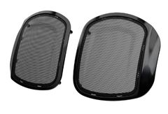 POWERBAND AUDIO CLASSIC SADDLEBAG SPEAKER BEZELS BLACK - 2883669-266