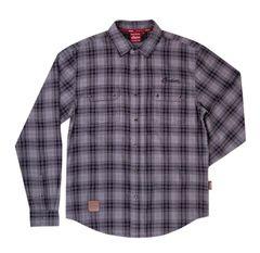 Casualwear - GRAY BLACK PLAID SHIRT - 2868932