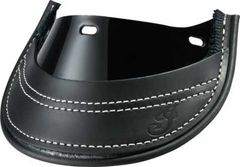 GENUINE LEATHER FRONT MUD FLAP BLACK - 2880008-01