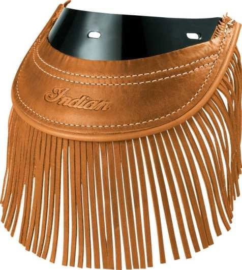 GENUINE LEATHER REAR MUD FLAP - DESERT TAN FRINGE - IMC - 2879584-05