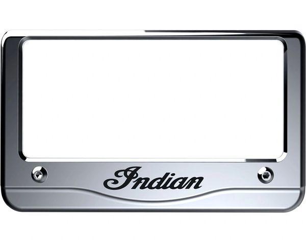 INDIAN SCRIPT LICENSE PLATE FRAME CHROME - 2880800-156