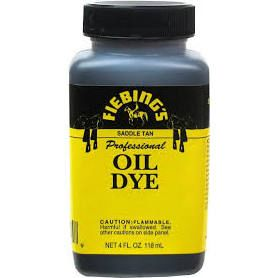 Seat Dye - LEATHER DYE PRO OIL FIEBING'S 4 oz. Saddle Tan - A-LDPR*04Z