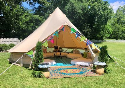 glamping sleepover party in Mississsippi with Upcountry Camp