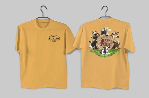 Citrus T-shirt/ Dairy Cows Design